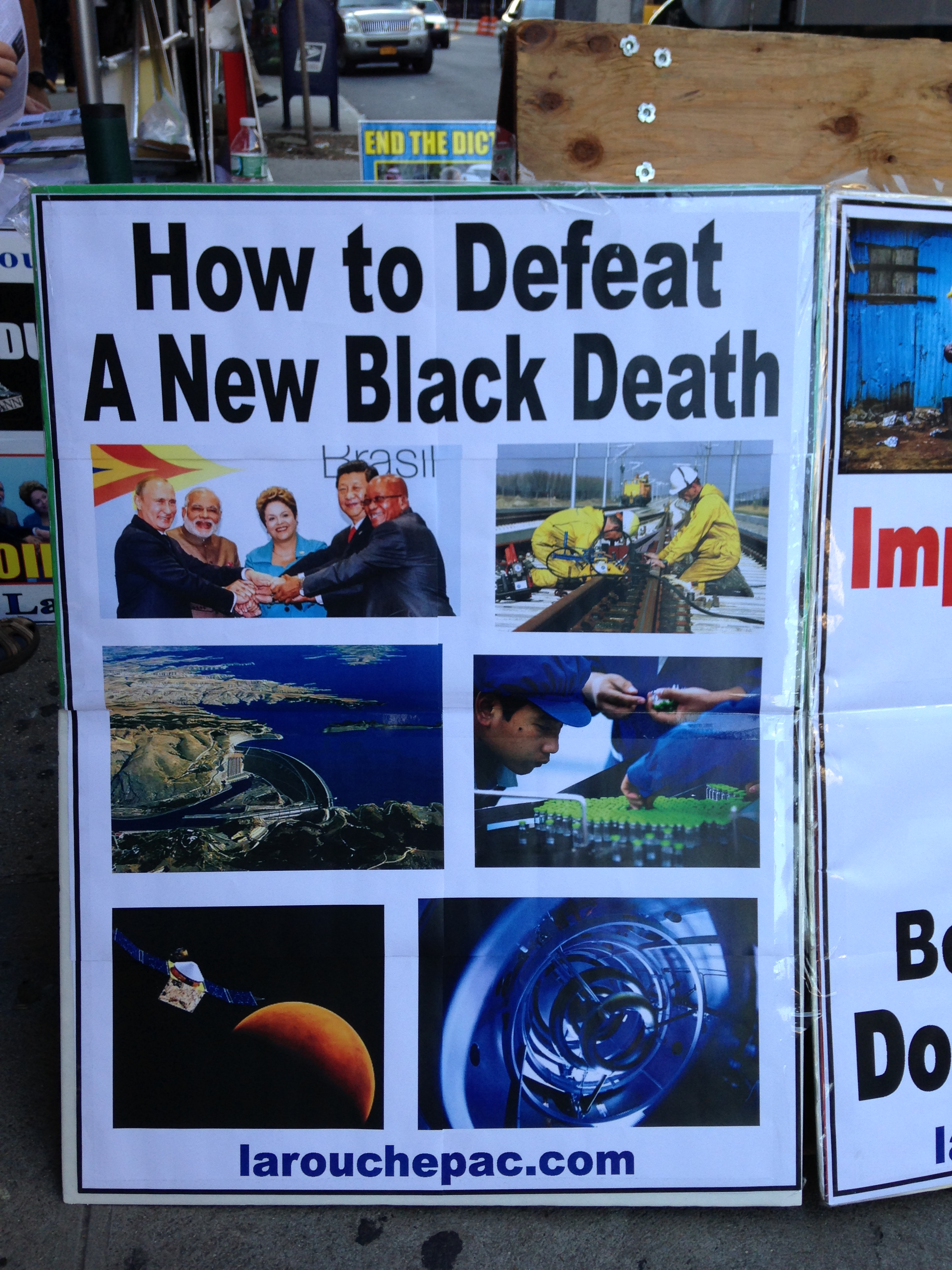 Ebola fear-mongering anti-Obama crazy propaganda outside Columbia
