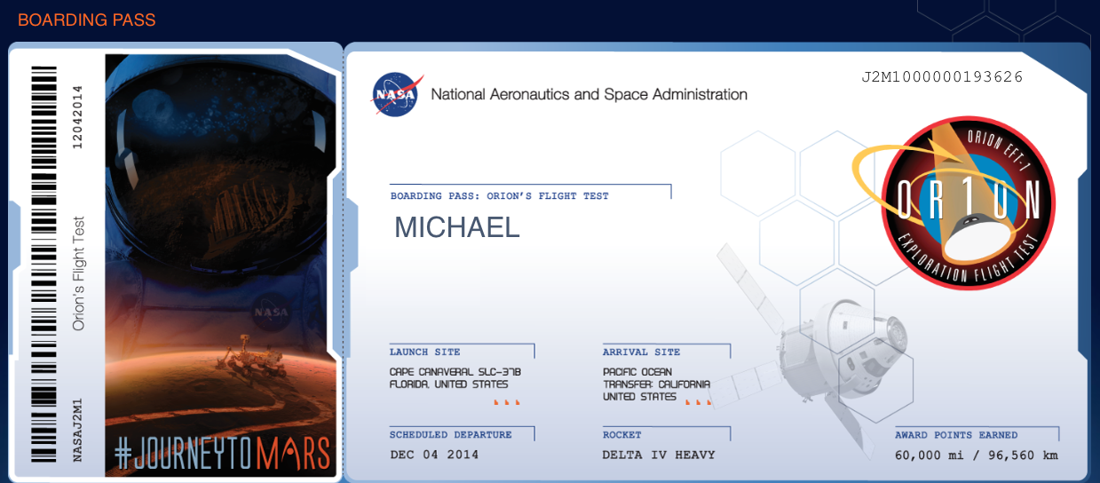My Name Is Being Sent To Space And To Mars Is Yours