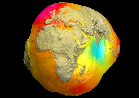 The Potsdam Gravity Potato  Image Credit: CHAMP, GRACE, GFZ, NASA, DLR
