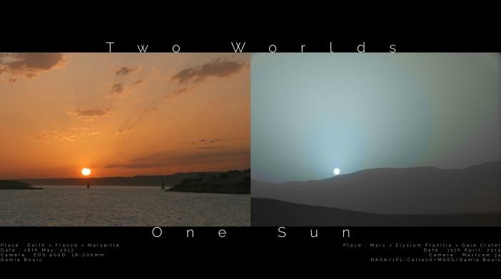 Left Image Credit & Copyright: Damia Bouic;  Right Image Credit: NASA, JPL-Caltech, MSSS; Digital processing: Damia Bouic